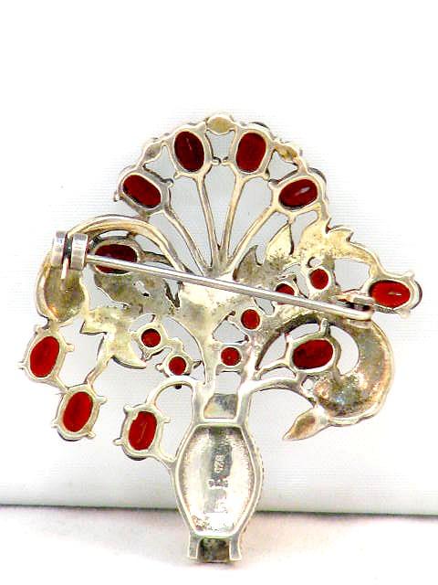Antiquitäten & Kunst Einfach Bijou Jeunesse Günthner Vintage Designer Brosche 925 Silber Mit Granat Einfach Zu Verwenden